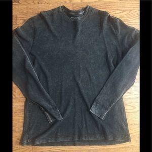 Men's long sleeve shirt XL black and brown
